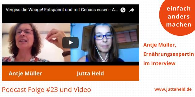 Antje Müller im Interview - entspannt essen und die Waage vergessen