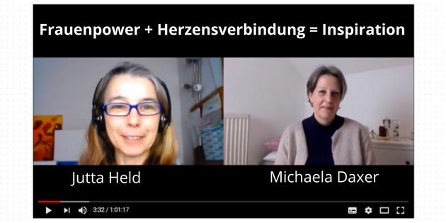 Michaela Daxer mit Jutta Held im Inspirationsgespräch